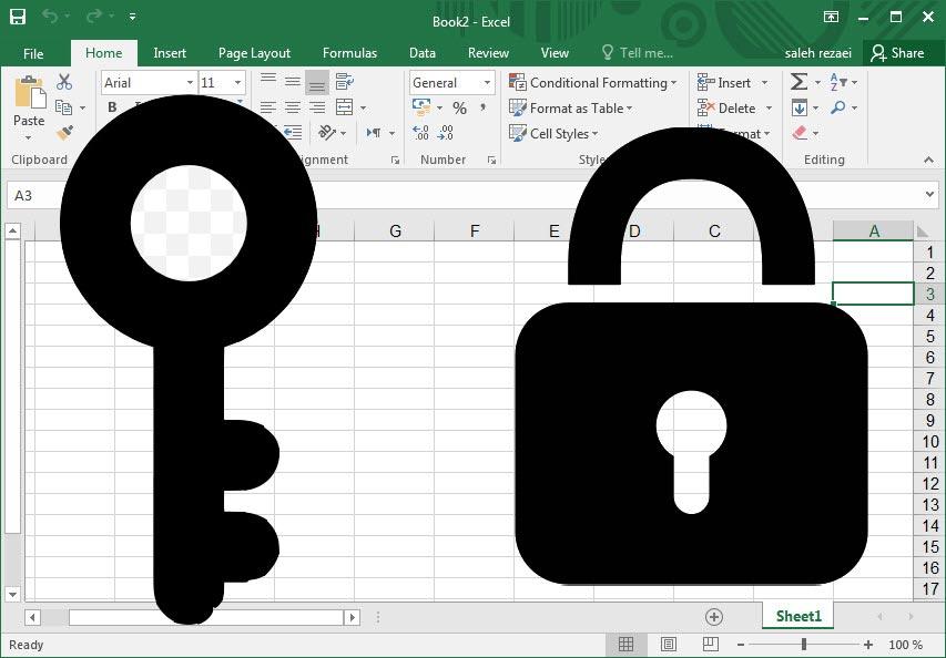 حفاظت از فایل های اکسل در برابر ویرایش و رمز گذاری آنها