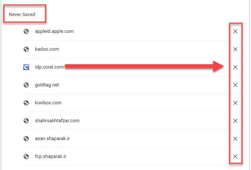 مدیریت پسوردهای ذخیره شده در گوگل کروم Google Chrome