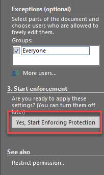 محدود کردن ویرایش و اصلاح بخشی از فایل ورد برای کاربران