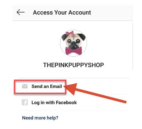 بازیابی پسورد اینستاگرام با استفاده از ایمیل و شماره تلفن