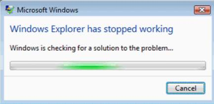 رفع خطای Windows Explorer Has Stopped Working در ویندوز 7
