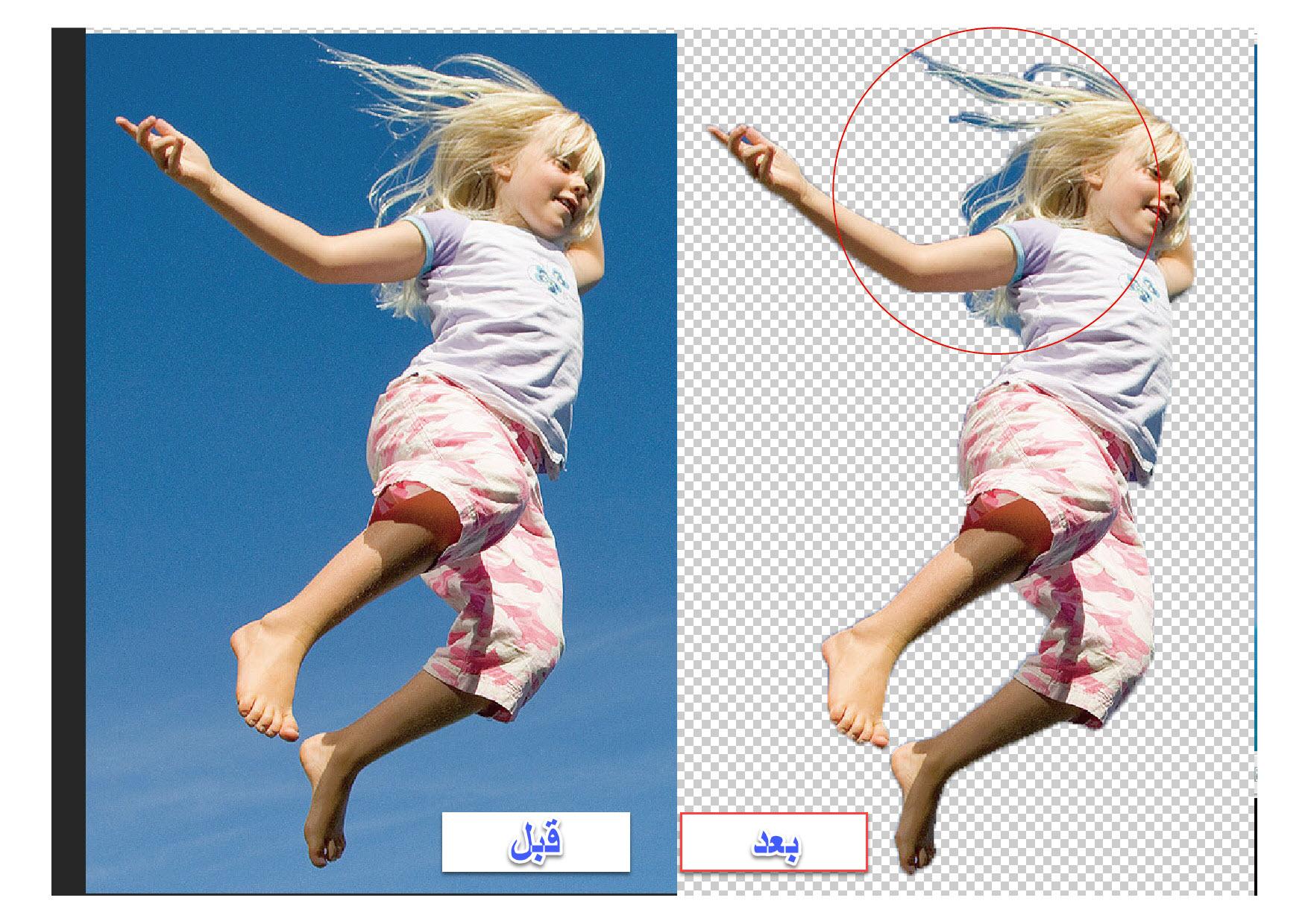 روش حذف پس زمینه عکس در فتوشاپ ، photoshop