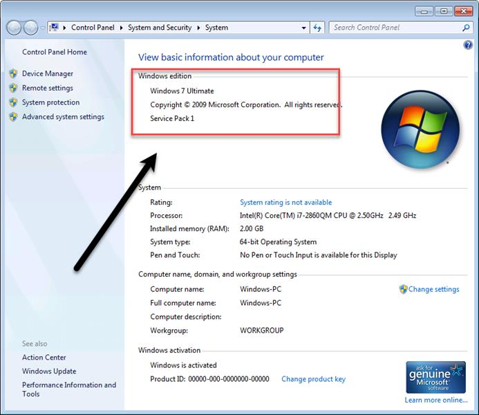 چگونه نسخه ویندوز را پیدا کنیم؟